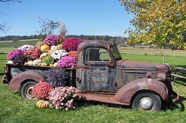Alternativna reciklaža: star kamion postane cvetlična greda.